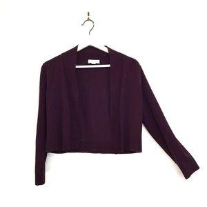 NWOT Calvin Klein Purple Crop Cardigan Sz M